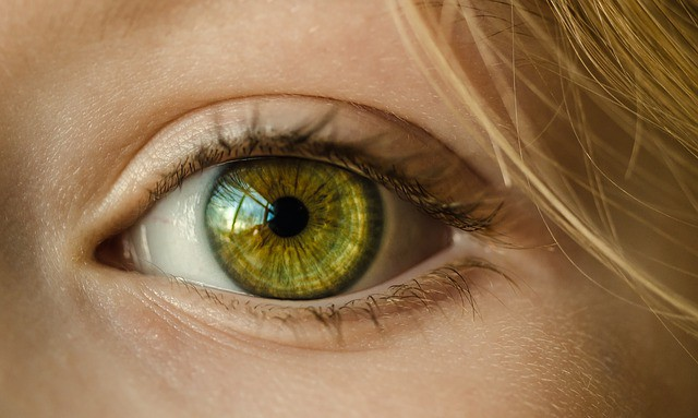 עין ירוקה של אישה